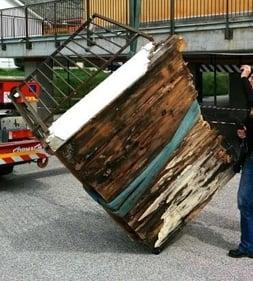 crolli case in legno- poggiolo
