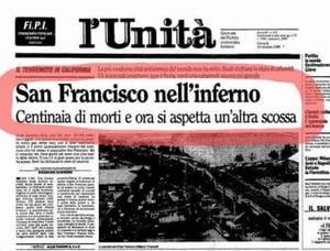 giornale terremoto california