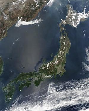 foto aerea del giappone