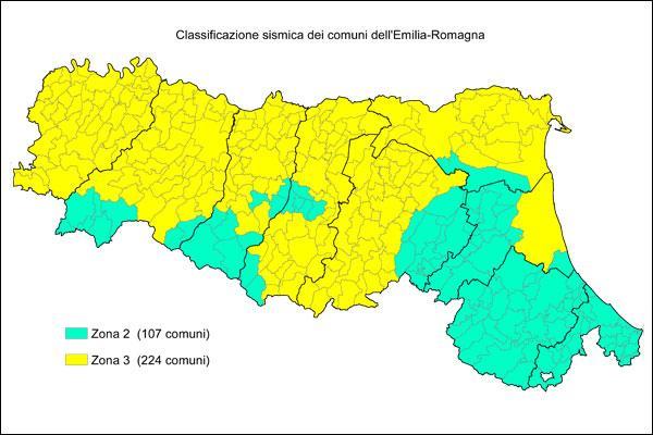 mappa sismica emilia romagna